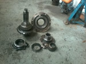 Photo of the pinion gears on WTG 360T