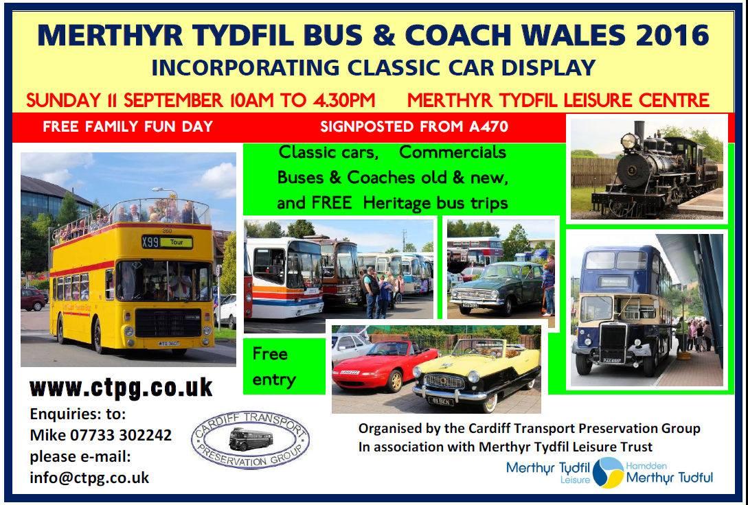 Merthyr Tydfil 2016 bus rally advert