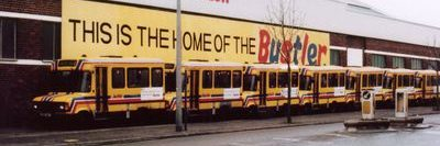 Photo of Bustlers lined up outside barry depot