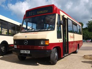 Our minibus we took to the Brislington rally